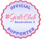 #GirlsClub - Generation 3 - Official Supporter Badge-1