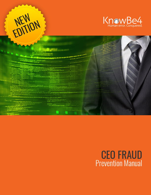 KnowBe4 CEO Prevention Fraud Manual