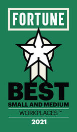 Fortune and Great Place to Work® Name KnowBe4 One of the 2021 Best Small & Medium Workplaces ™, Ranking Number Eight
