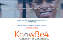 KnowBe4 Launches $10,000 Scholarship For Black Americans In Cybersecurity