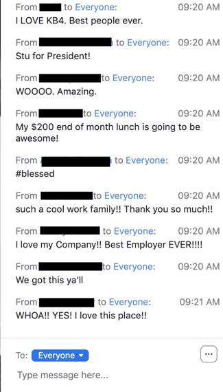 50$ per week announcment copy