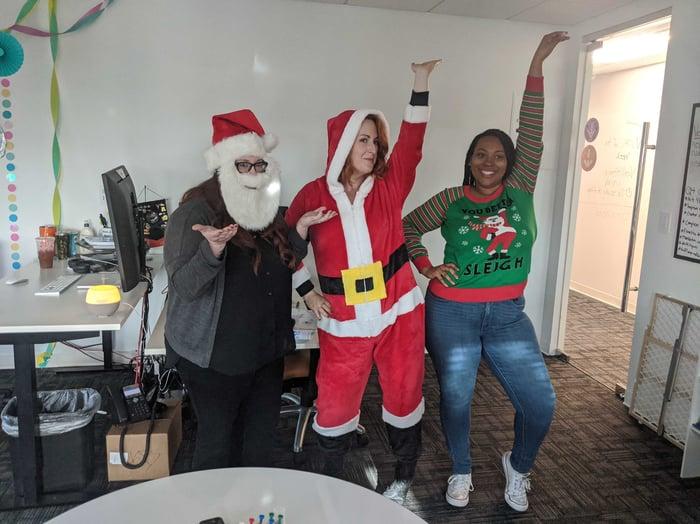 Katie's Team Having Some Christmas Fun