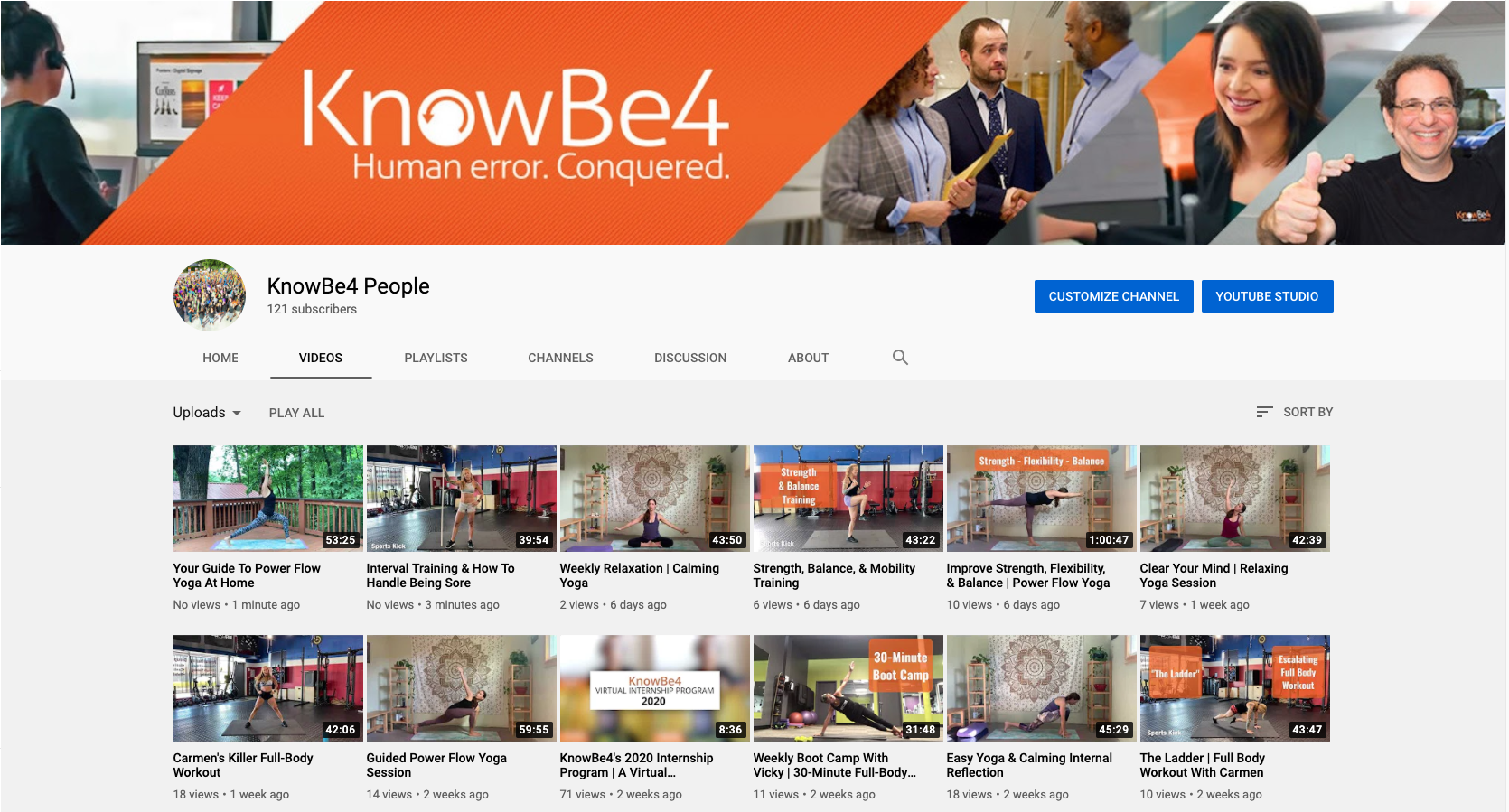 KnowBe4 People YouTube Page