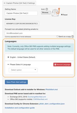Language Aware PAB M365