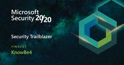 Microsoft 2020 Award Finalist for 2021