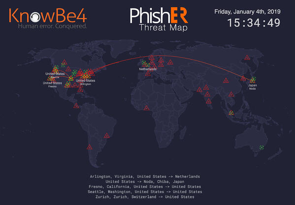 PhishER ThreatMap