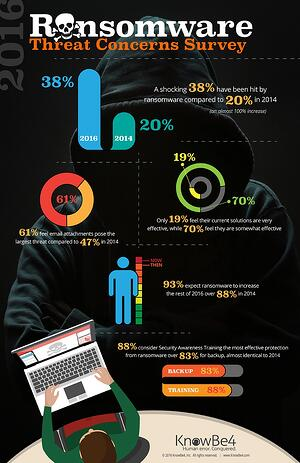 Ransomware Threat Survey Infographic