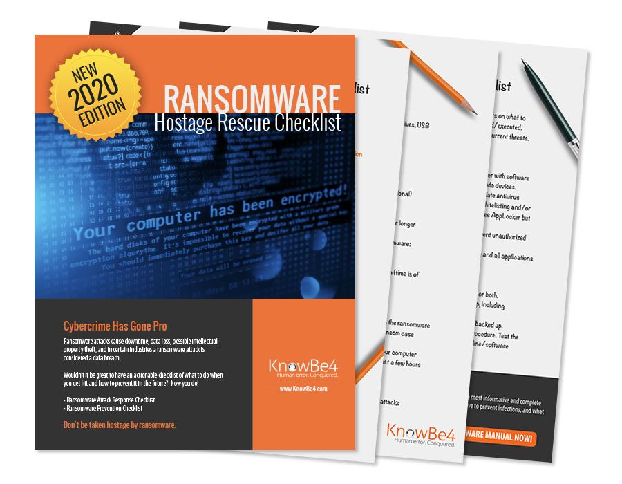 Ransomware Hostage Rescue Checklist