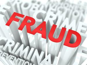 Fraud Background Design. Criminal Offence Word Cloud Concept.