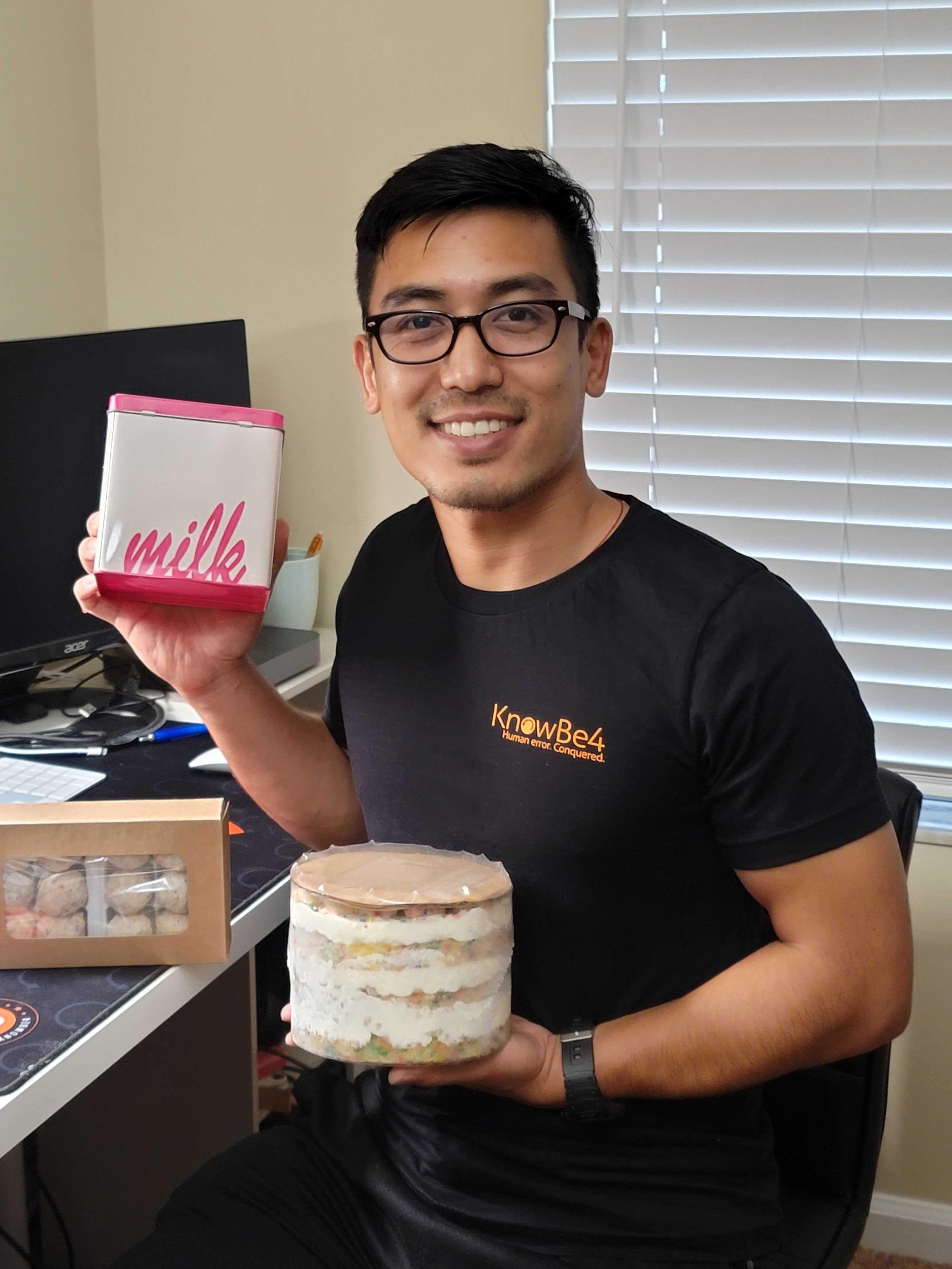 Interns received Milk Bar cakes