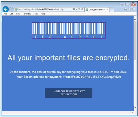 TeslaCrypt Ransomware | KnowBe4