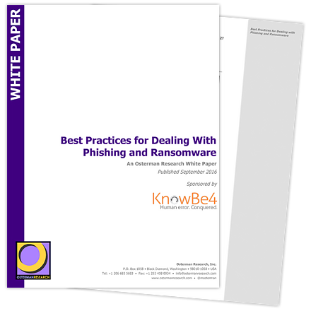 Best Practices for Dealing With Phishing and Ransomware Whitepaper