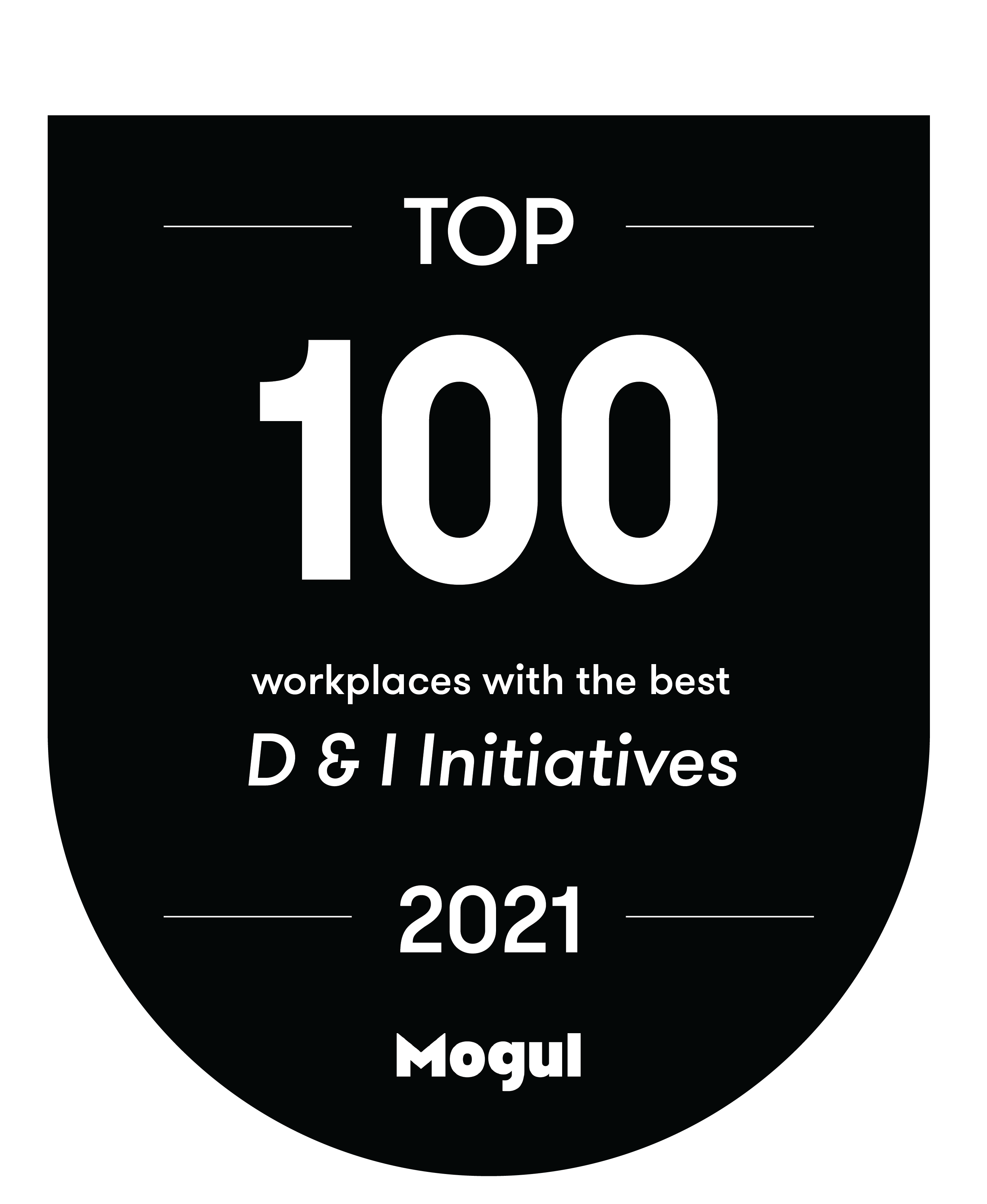 2021 Badge – Top 100 Workplaces with the Best D & I Initiatives