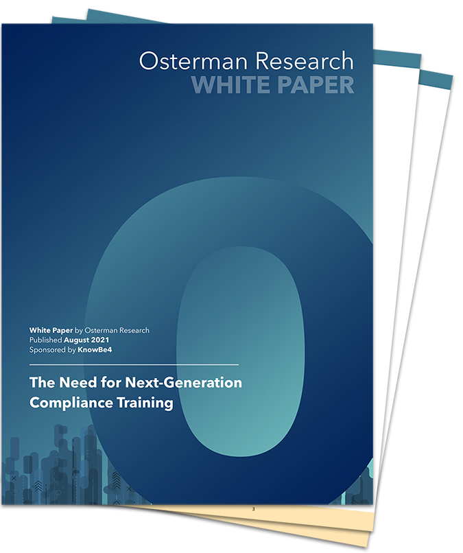 Download the original research report The Need for Next-Generation Compliance Training