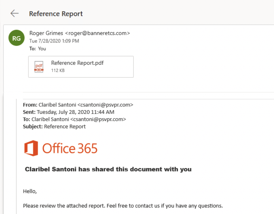 example phishing email reference report