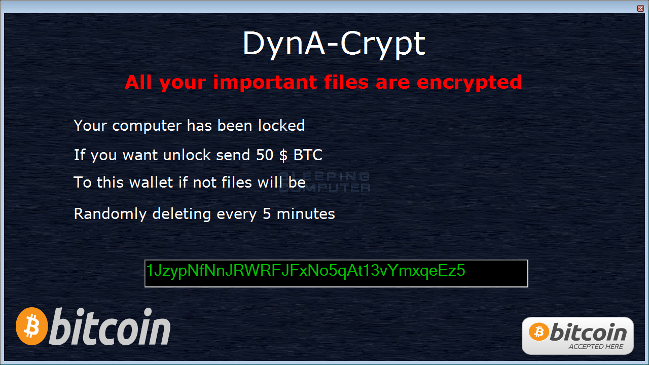 [ALERT] DynA-Crypt Ransomware Steals And Deletes Your Data